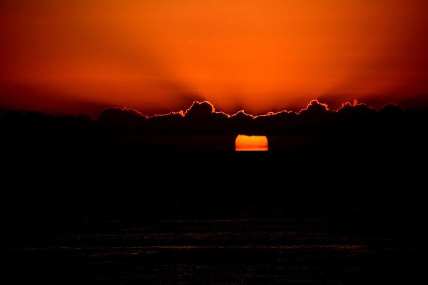 Orange Sky Beauty In Nature Landscape Nature Outdoors Scenics Silhouette Sky Sunrice #sunrice #morning #lovely Tranquil Scene Tranquility