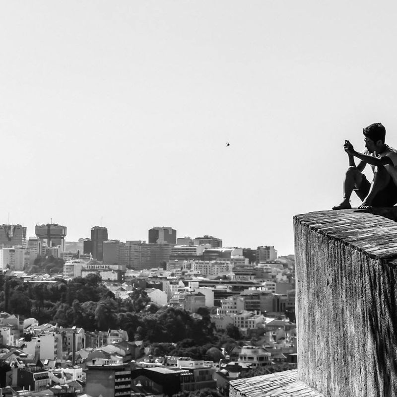 On top of the world.. Cityscapes Lisbon My Happy Place  Enjoying The View From The Rooftop blackandwhite Exploring New Ground