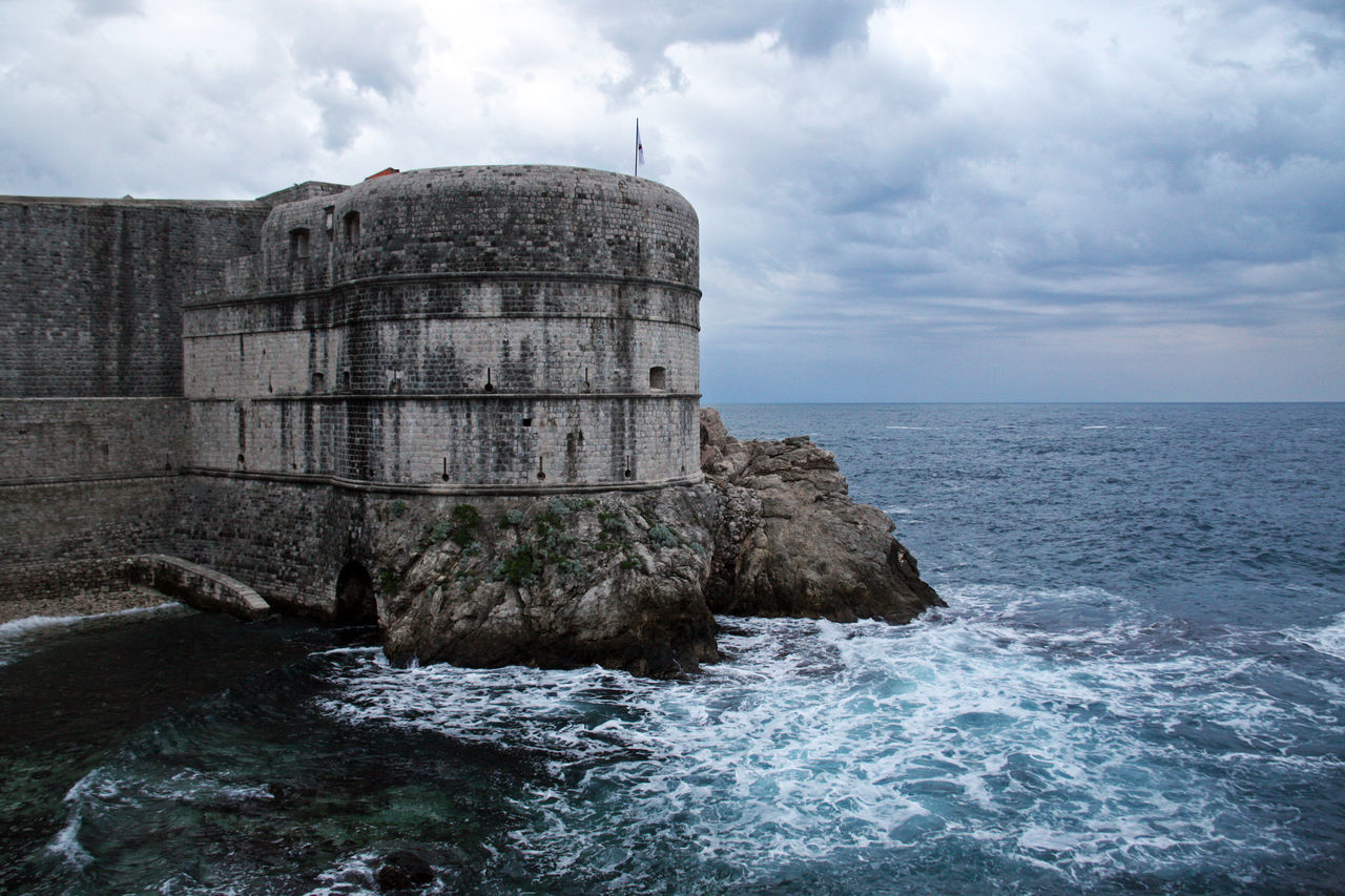 Dubrovnik,ancient fortress Bokar,Croatia,Europe,1 Adriatic Coast Ancient Architecture Architecture Beauty In Nature Bokar Built Structure Cloud - Sky Day Dramatic Sky Dubrovnik, Croatia Fortress History Horizon Over Water Nature No People Outdoors Scenics Sea Sky Storm Clouds Water