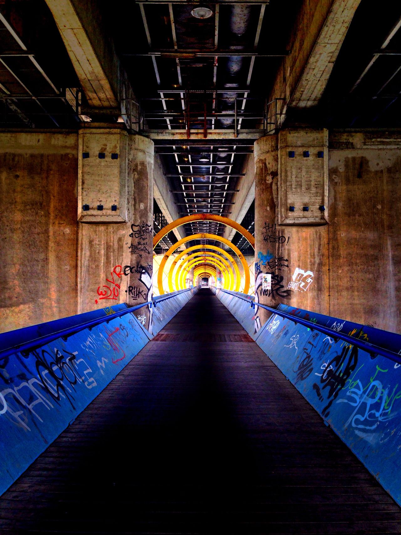 Streetphotography Street Photography Streetart Bridge HDR Hdr_Collection Hdr Edit HDR Collection Hdrphotography Architecture Architecture_collection Structure Structures Symetry No People Architecture Colors Colorful Walk Walking Around Tunnel Tunnel Vision