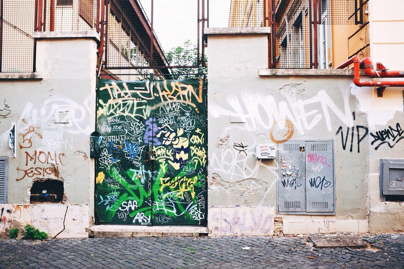 Graffiti's Door - VSCO Vscocam Streetphotography Streetart Graffiti Mural