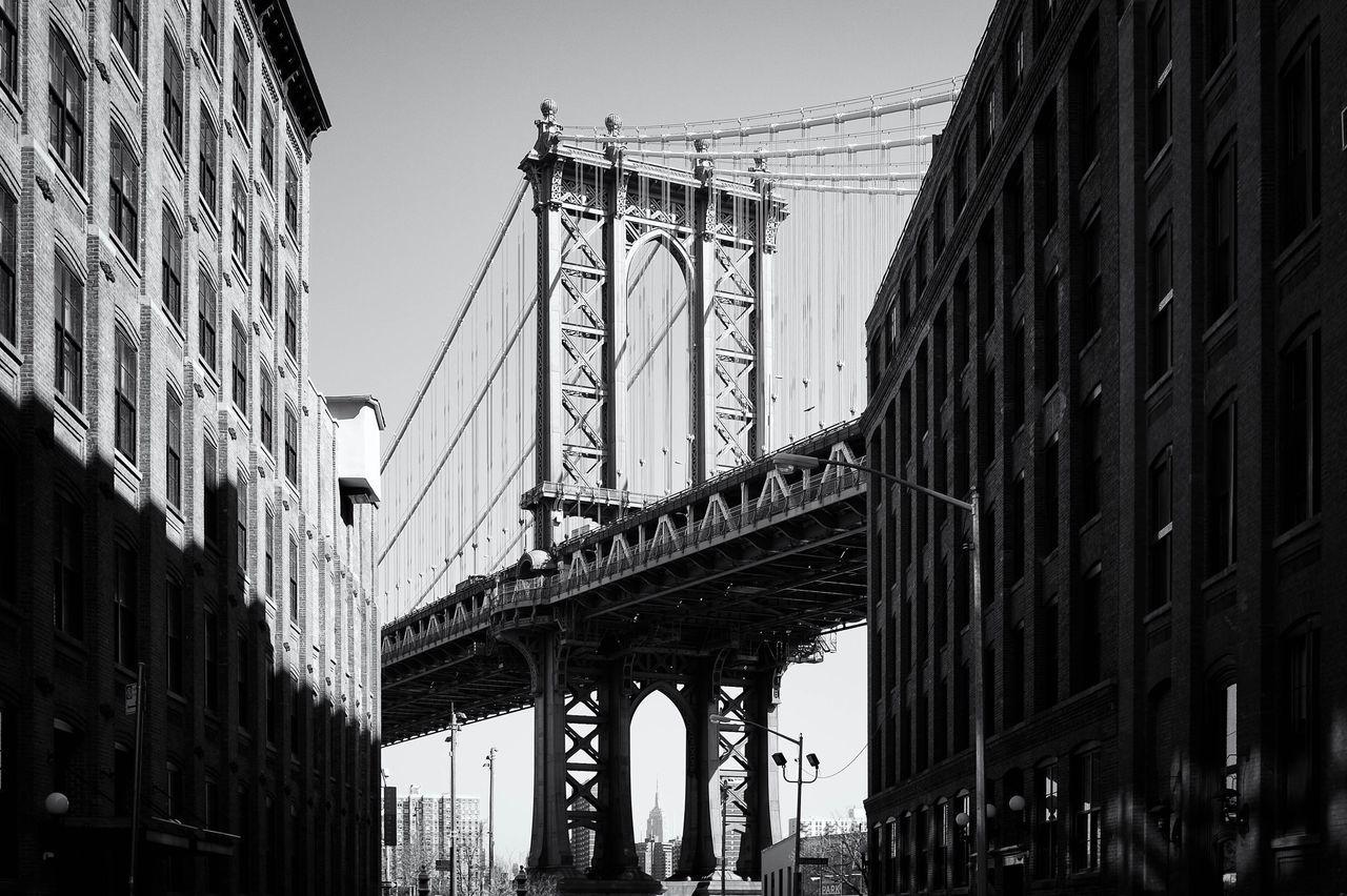 Architecture City NYC EyeEm Streetphotography New York Travel New York City Noir Et Blanc NYC Photography Streetphoto_bw The Street Photographer - 2016 EyeEm Awards Fujifilm Black & White EyeEm Team Explore Fujifilm_xseries Brooklyn Bridge / New York Brooklyn DUMBO, Brooklyn