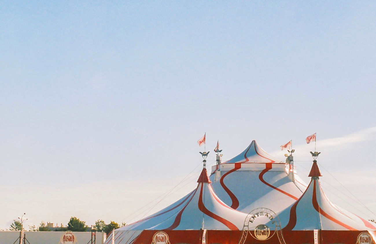 The magic house Circus Circus Tent Sky Leica M7 Film 35mm Film Photography The Film Files