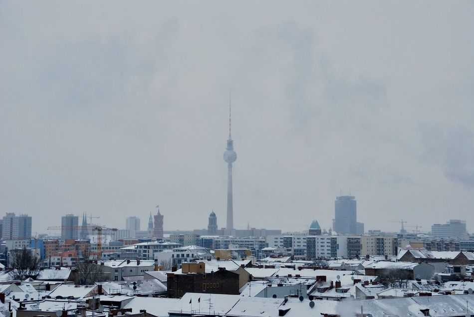 My Eyes My Berlin On Or About The Tower Architecture Winter Cityscape Cold Temperature City Urban Exploration Built Structure Urban Geometry Still Life Cityscapes Stillness In Time Landscape EyeEm Best Shots
