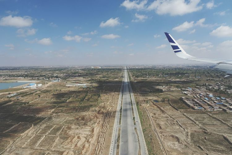 China Photos Landscape Highway Road Approach Airport Lanzhou From An Airplane Window Learn & Shoot: Leading Lines Streamzoofamily