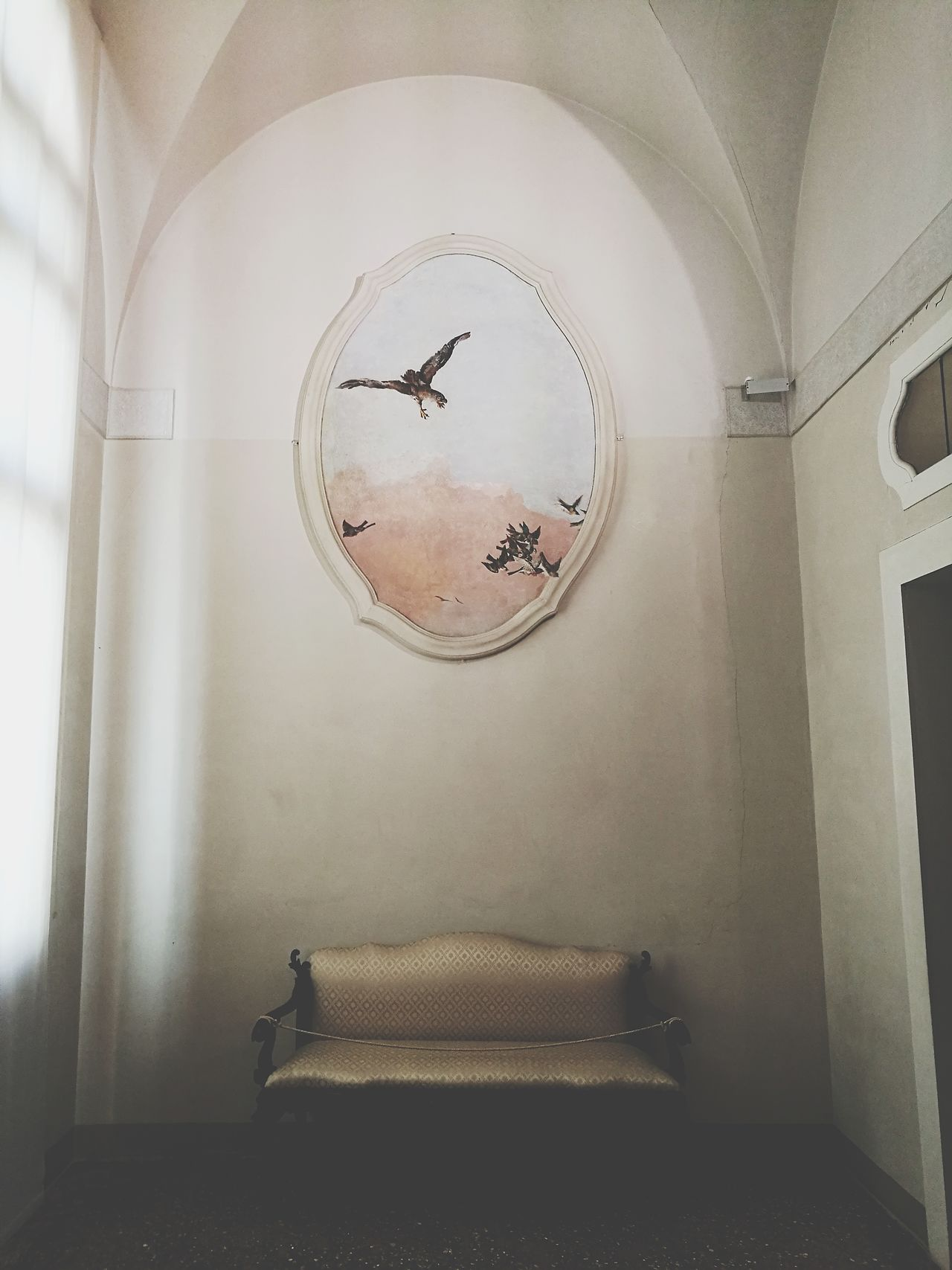 Palace Cà Rezzonico Indoors  Painting Minimalism Birds Chair Museum Venice, Italy