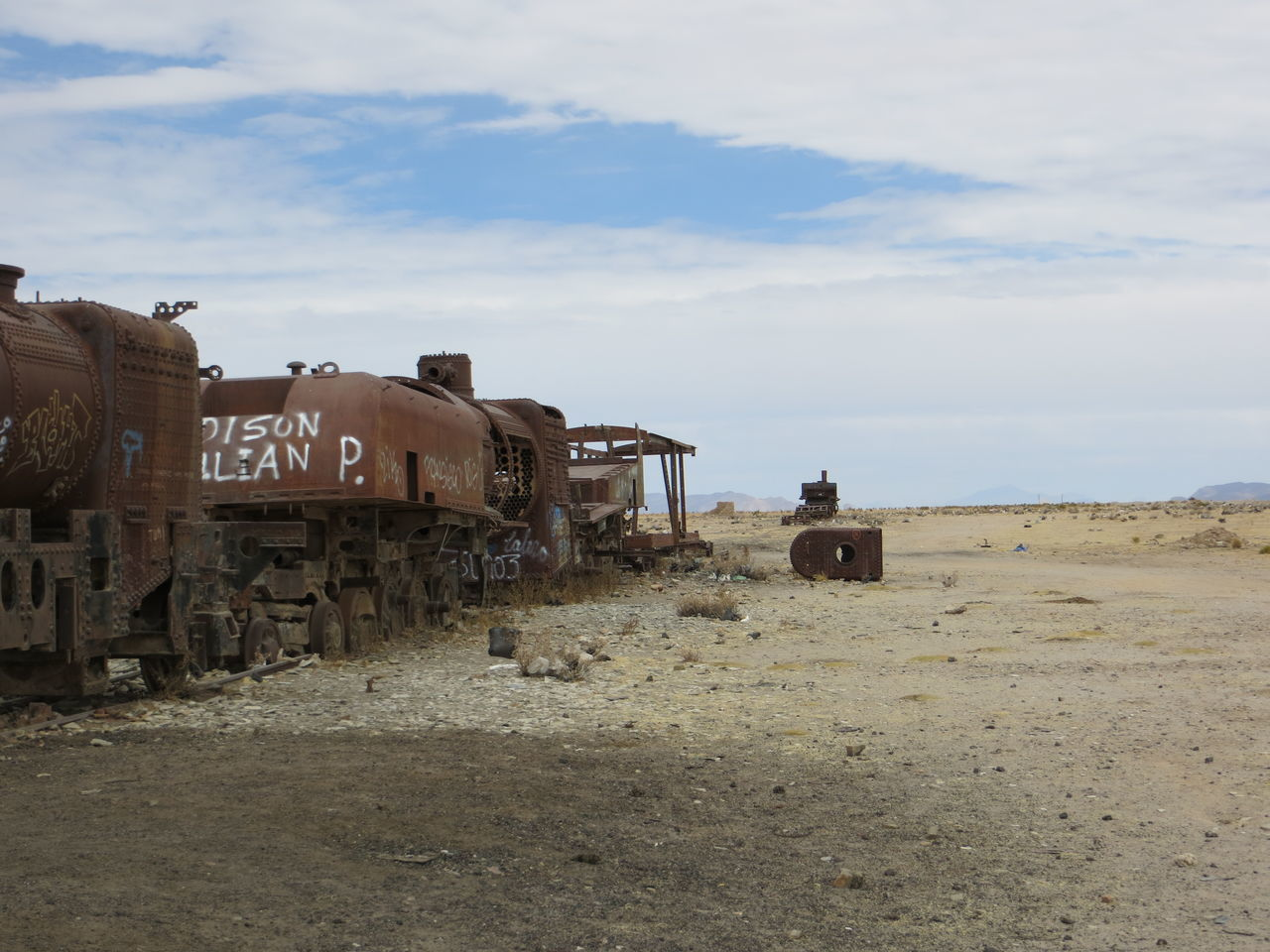 Abandoned Abondened Abondened Places Agriculture Ancient Civilization Bolivia Bolivia Uyuni Crop  Day Destruction Farm Field Grass Grassy Horizon Over Land Land Vehicle Landscape Obsolete Outdoors Ruined Rural Scene Sky Solitude Train The KIOMI Collection