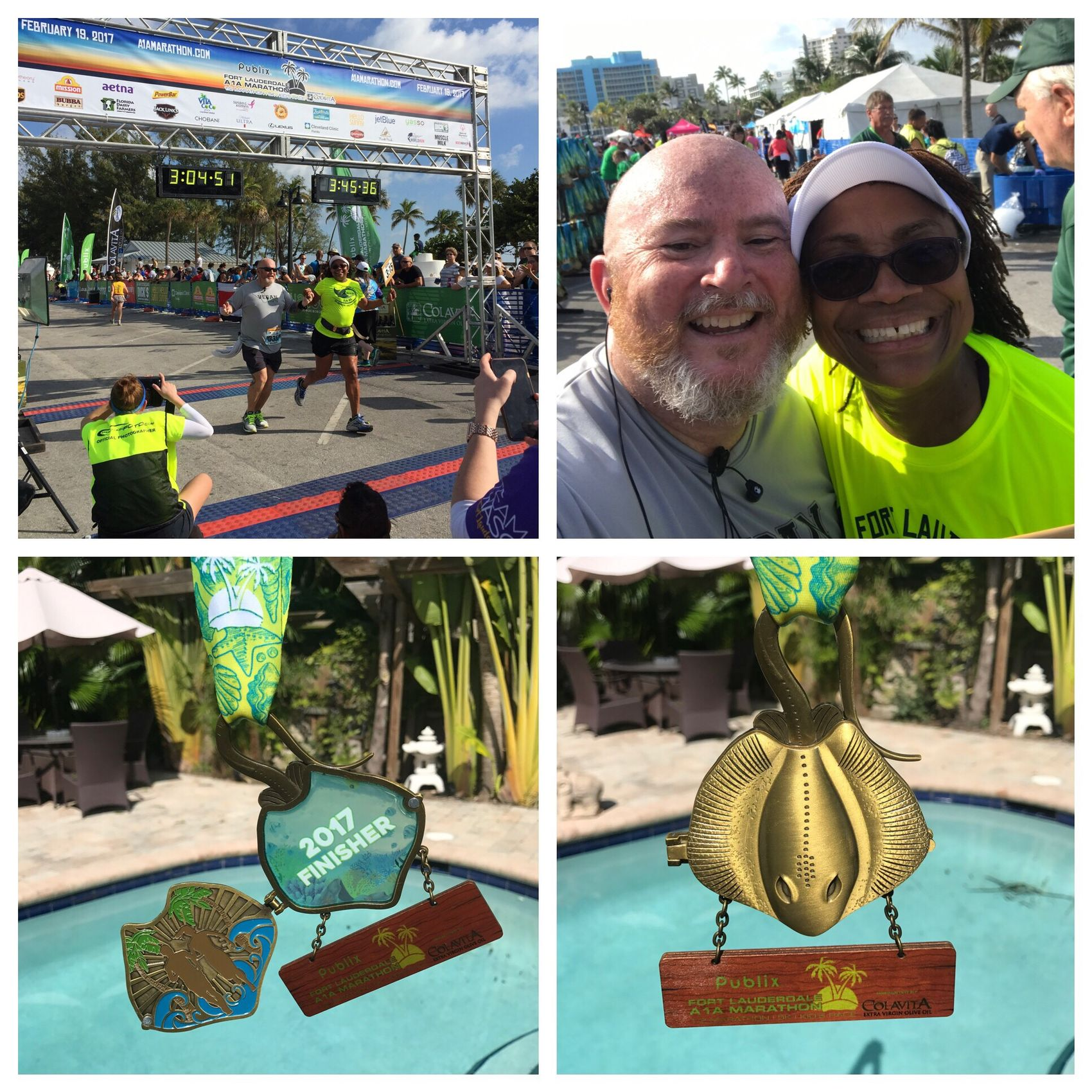 Done and done. 7th year in a row running A1A Marathon. The most beautiful course in the country. Exhausted but happy. A1A Marathon Halfmarathon Run Running Gayrunner Gay Runners