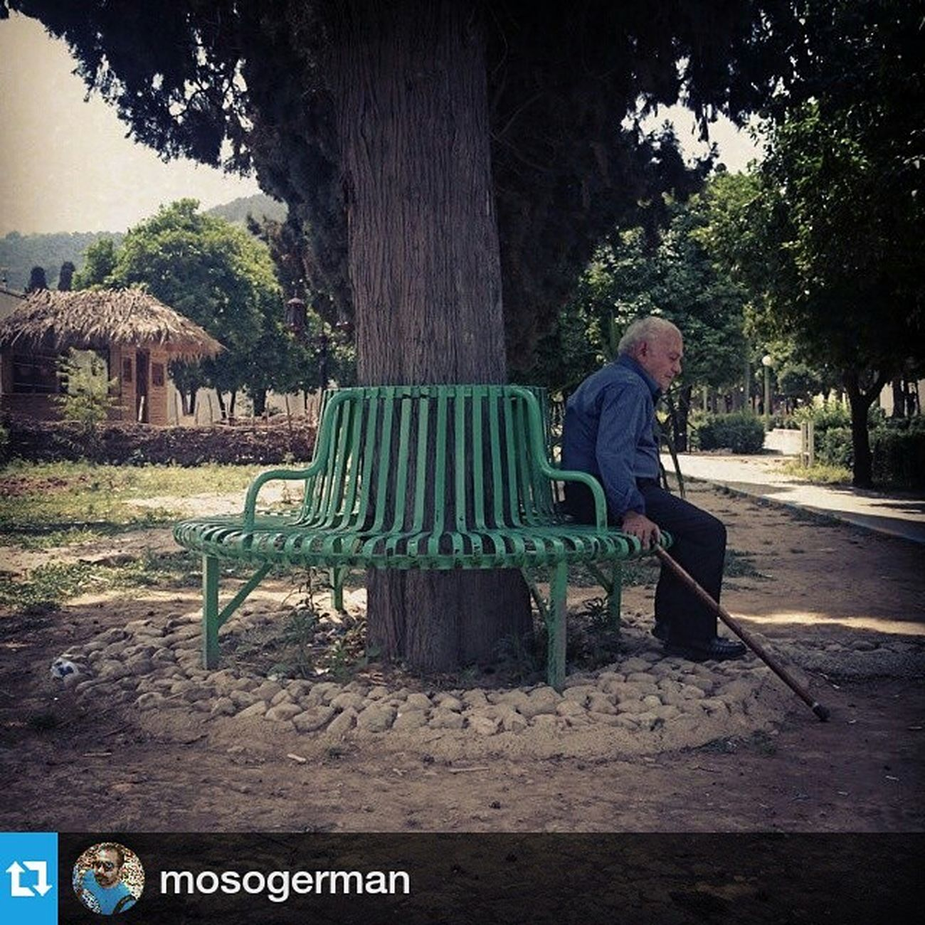 Repost ・・・ Everydayeverywhere Everywheredaily Everydayasia everydaymazandaran daily dailylife picoftheday photooftheday reportagespotlight gettyimagesnews gettyreportage park lonely old_man old man mobilephotography mobilegraphy
