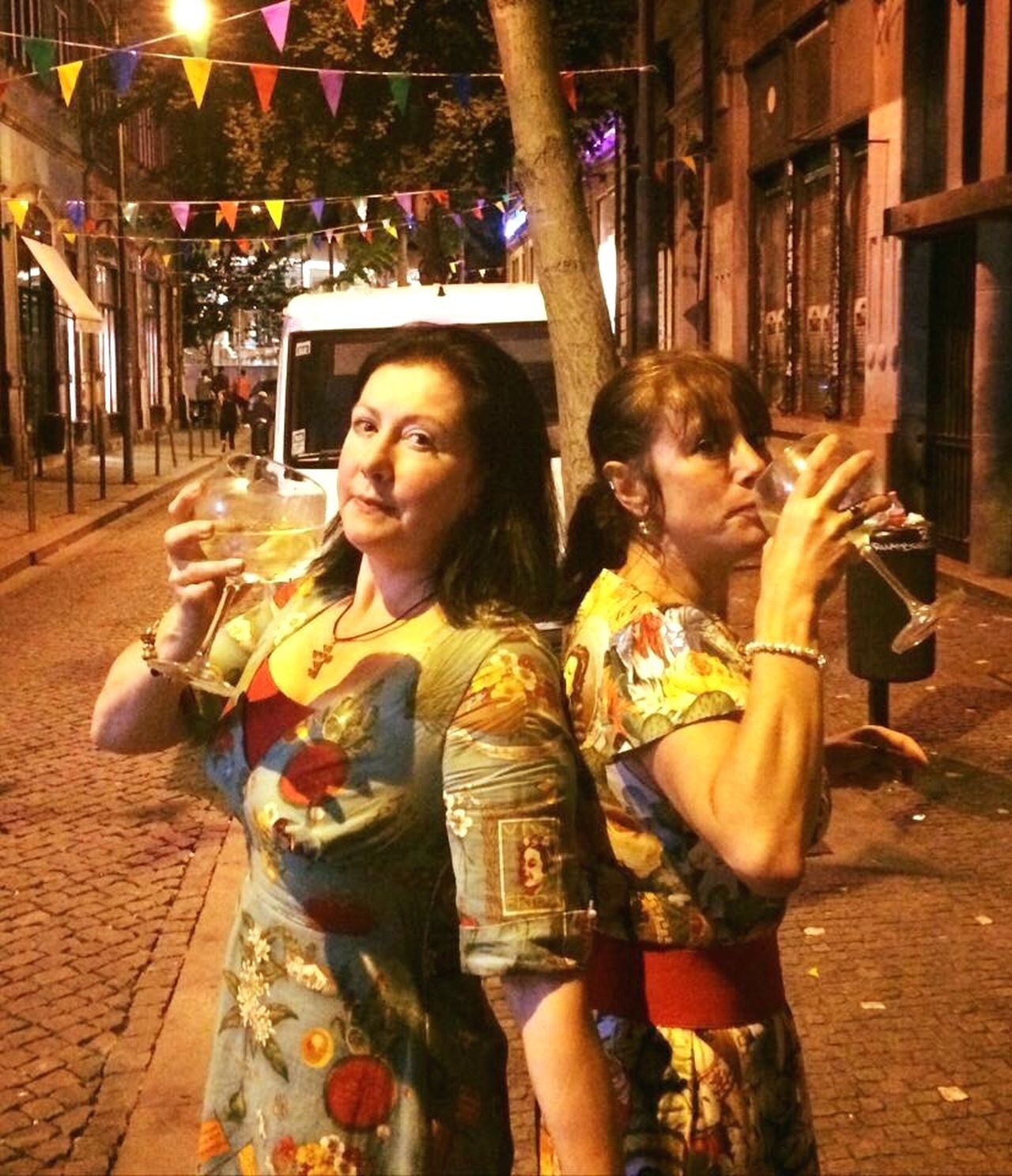 People And Places My sister and I at the Festival Sao Joao in Porto Festival Portugal Porto Drinking Gin Tonic People And Places.