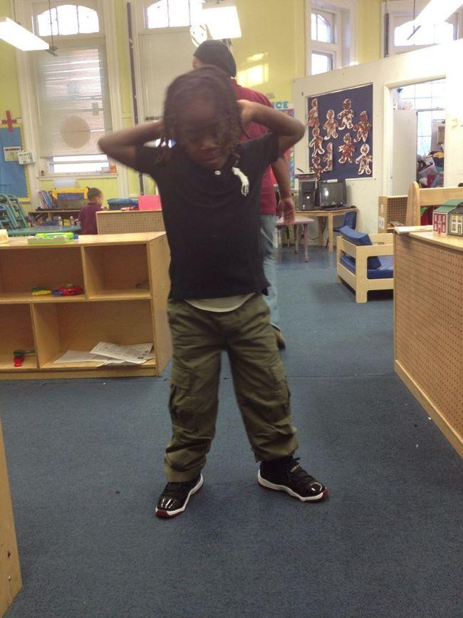 My Boy Flexing