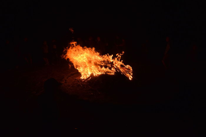 Blaze Nikon Bonfire Burning Campfire Close-up D5300 Dark Flame Heat - Temperature Molten Night No People Outdoors