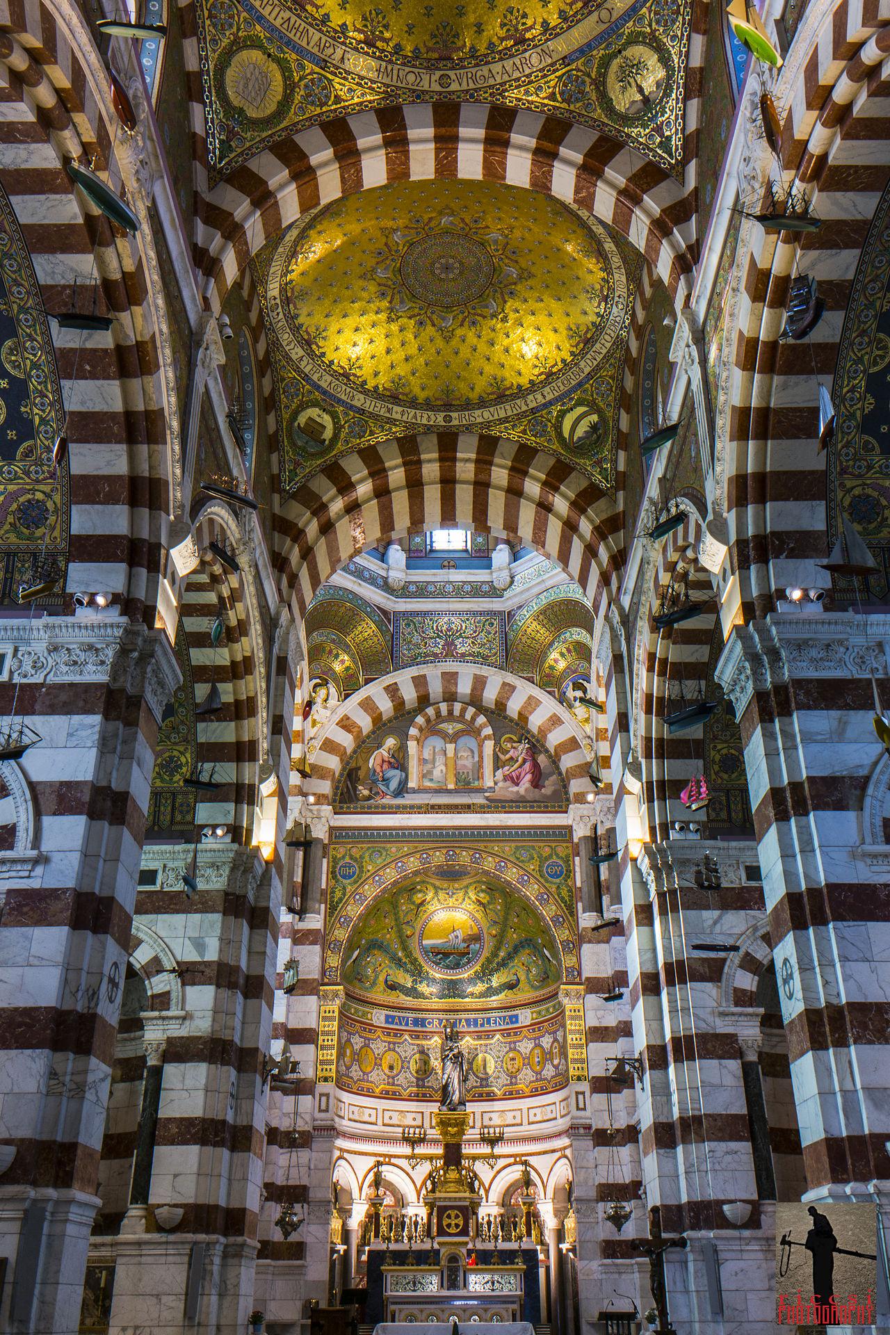 Notre Dame de La Garde, Marseille, interior Basilica Church Interior Interior Design Long Exposure Notredamedelagarde Riccsi Structure Temple