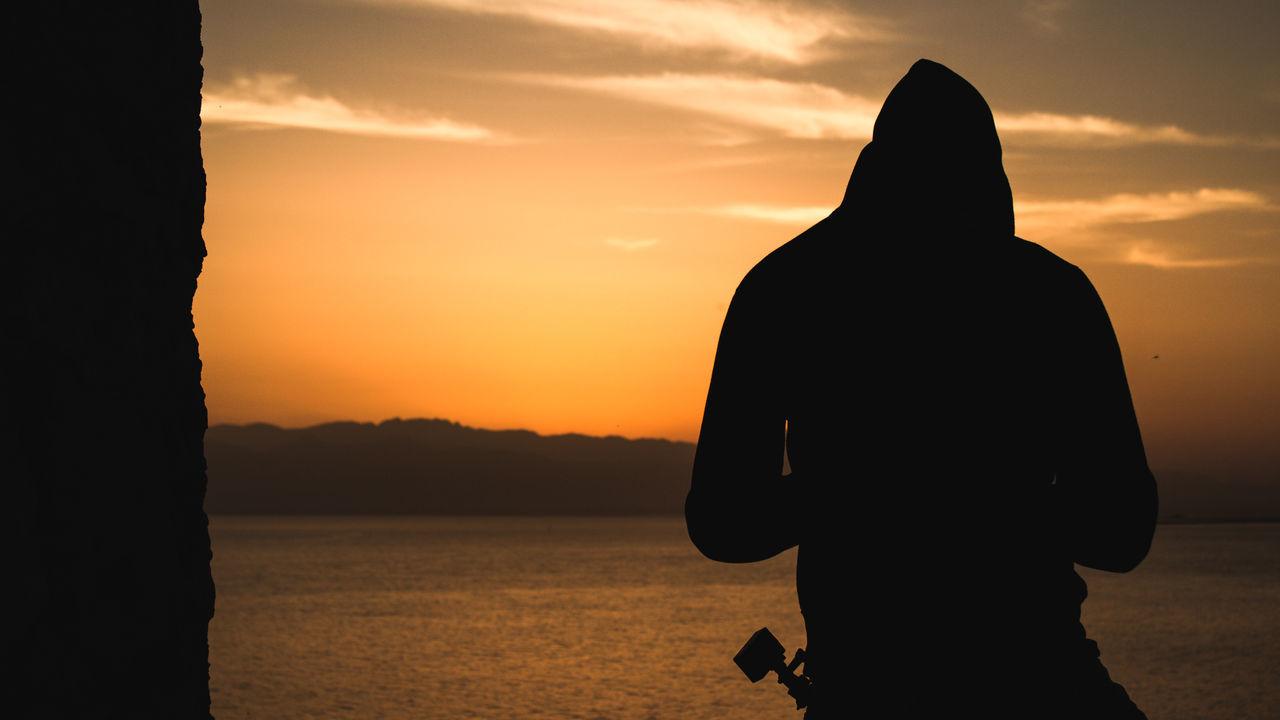 Silhouette. Canon Canon1200d Canon18-55 18-55mm Canonphoto Canonphotography Postproduction Adobe AdobeLightroom Adobe Photoshop Silhouette One Person Men Sunset Outdoors Human Body Part Sky Sardegna Scenics Eyeemphotography EyeEm Landscape Illuminated Miles Away Sea