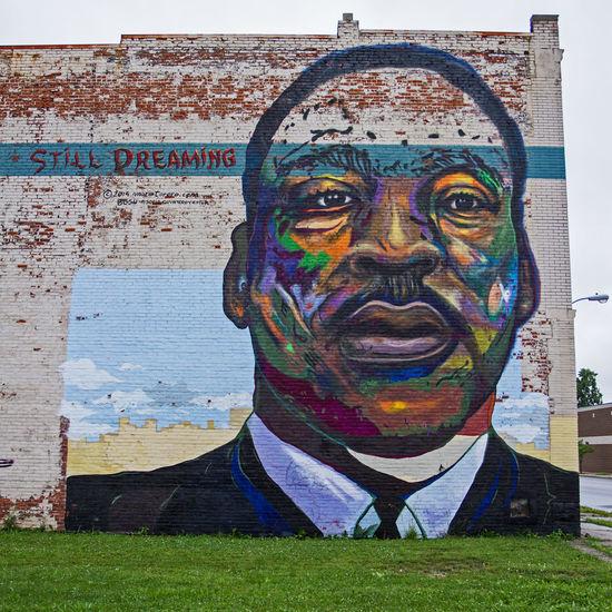 Art Colors Creativity Eric Barnes Photography Human Representation Martin Luther King Jr MLK Mural The Street Photographer - 2016 EyeEm Awards