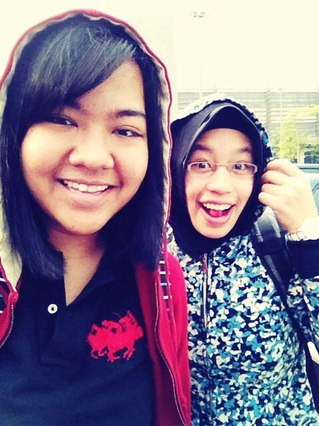 The weather today is Genting-ish, so yeah x) Rushing To Class