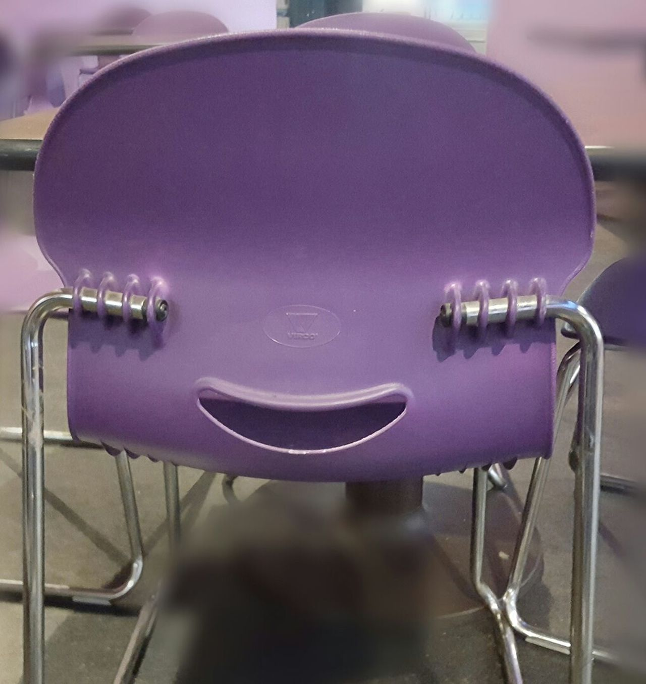 Smiling Chair Close-up No People Indoors  Purple Bowling Alley