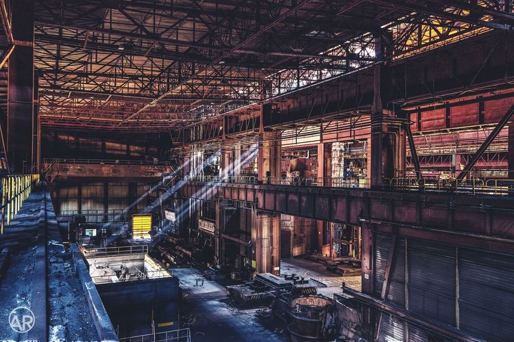 Abandoned industrial plant, Belgium Built Structure Abandoned Architecture Factory No People Indoors  Day City Bad Condition Industry Metal Industry Secret Spaces Canon Light Trail Urbex EyeEmNewHere