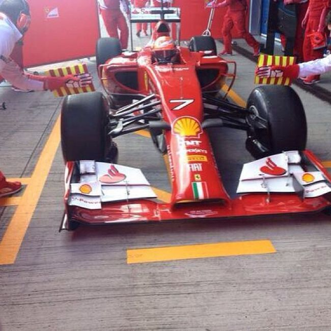 "Kimi Raikkonen ""The Ice Man"" on F14T ForzaFerrari F1 F14t Formula1 f1ferrari racing forzamichael WelcomebackKimi"
