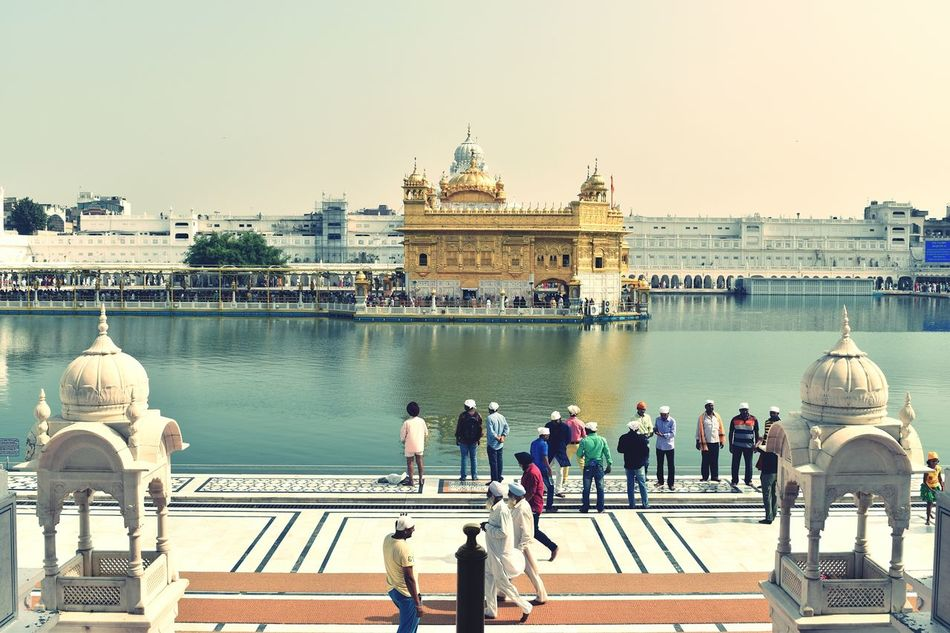 Golden Temple Amritsar Punjab picture 3 Peaceful Place Favorite Places Travel Destinations Myfavoriteplace Architecture Reflection Sky Water History Cloud - Sky Soulful Gold Holywater  Compassion Religious  Religion Sikh Temple