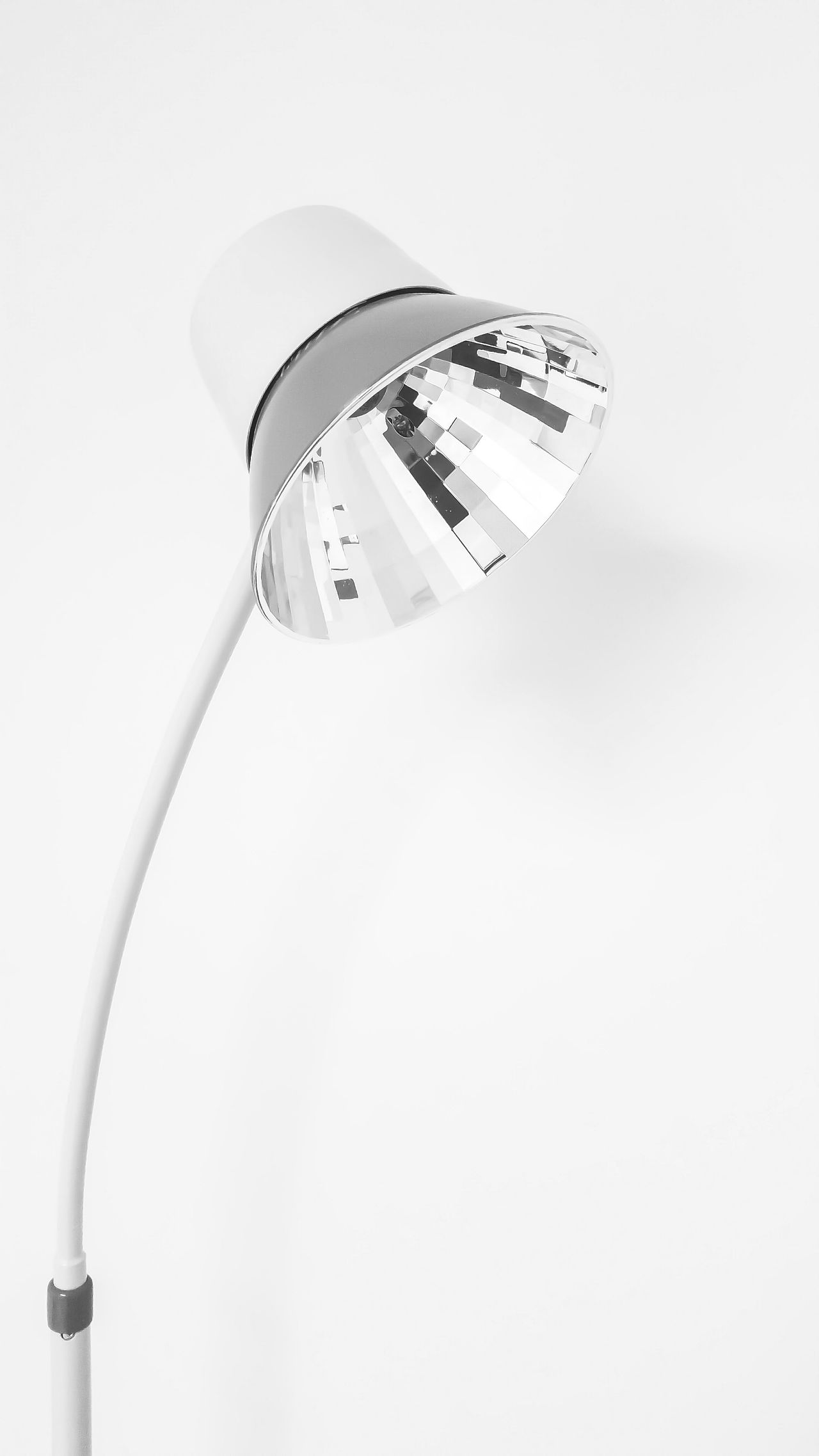 White Background Close-up Fragility Shiny No People Indoors  Lamp Floor Lamp Reflection Interior Design Light Light Source Functional Design Room For Copy Room For Text Minimalism The Minimalist Single Object Building Interior Background Black And White Photography Decorative Design Softness Pastel Colors Shiny Surfaces