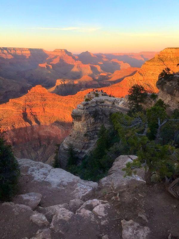 Arizona Travel Destinations Grandcanyonnationalpark Arizona Landscape Grandcanyon Vacation Sunset Tranquility Beauty In Nature