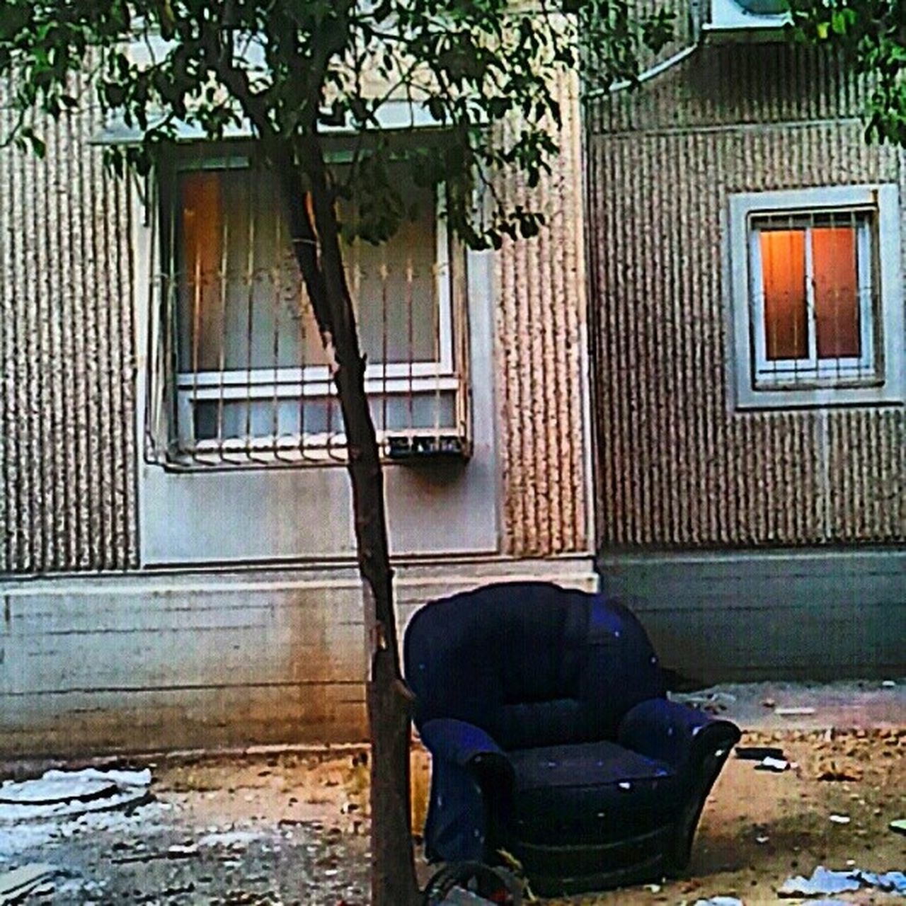 window, house, chair, built structure, architecture, door, armchair, no people, wood - material, day, home interior, living room, building exterior, indoors
