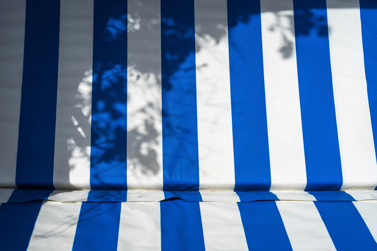 Backgrounds Beach Beachchair Beachphotography Blue Close-up Day Full Frame In A Row LINE No People Outdoors Parallel Shadow Shadows & Lights Sky Striped White Color The Secret Spaces Art Is Everywhere The EyeEm Collection Selected for Premium Collection Fine Art Photography