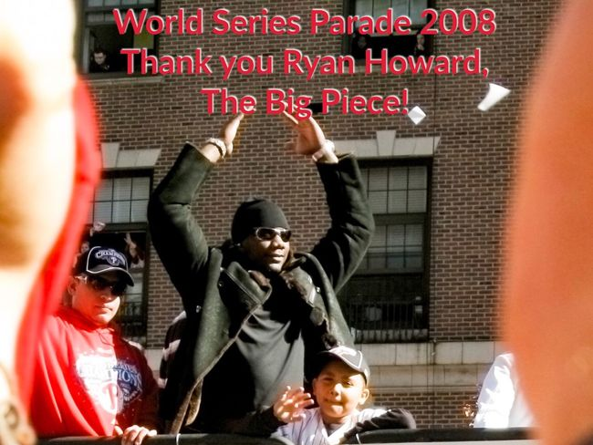 Thank you Ryan! Red Human Representation Photographing Casual Clothing Person Ryan Howard Baseball Philadelphia Phillies Streamzoofamily Notes From The Underground World Series 2008 Sports Photography