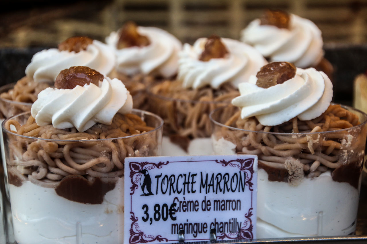 Colmar Colmar, Alsace, France Creme De Marron Crème Dessert Food Maronen Maronencreme Marron Nachtisch Snack Sweet Food Sweetness Süßspeise