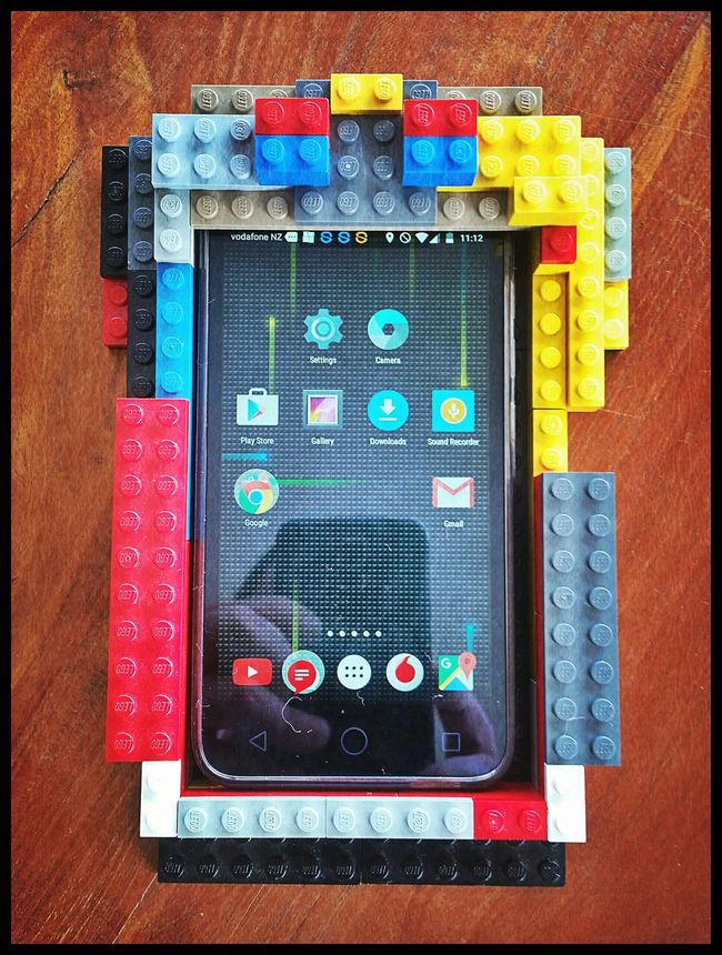 Just found this on the table... Yoshi's home-made phone cover Cute Creative Kids LEGO One Of A Kind