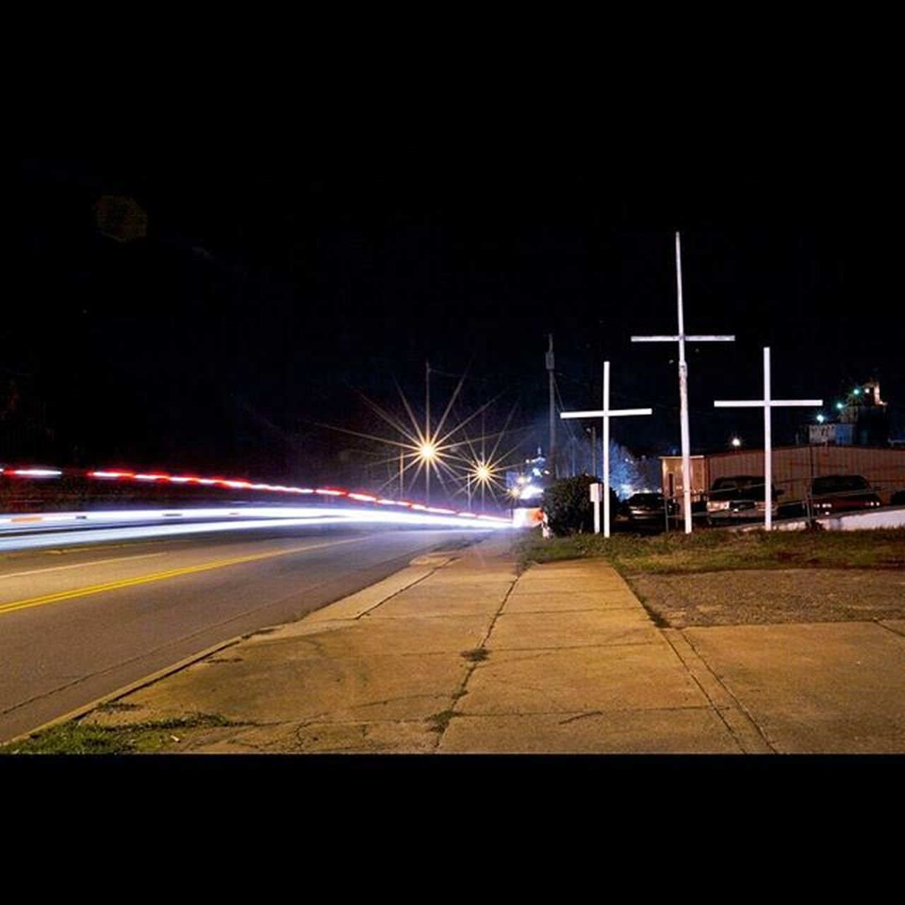 Night view of Center St in Statesville, NC. _____________________________________ _______________________________________________________________________________________________________________ Statesville Northcarolina Religion America Americanculture Nighttime Nightscene Lighttrails Southernculture Nightshooters Subjectivelyobjective Nightphotography Nightphoto Urbanlandscape Streetshooter Streetphotography Streetphotographer Streetphoto Documentaryphoto Documentaryphotography Agameoftones AtWarWithTheObvious Newtopographics Fotoguerrilla Shootermag NoiceMag YetMagazine photozine photowork PhotoOfTheDay