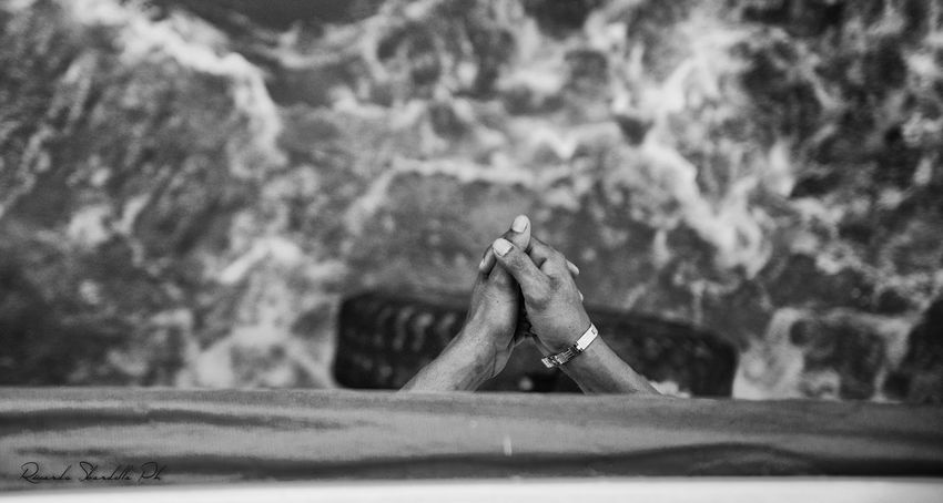 Boat Close-up Detail Human Body Part Human Hand Part Of Praying Praying Hands Prey Preying Real People River Selective Focus Water