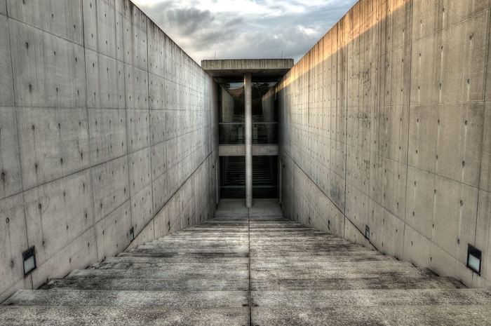 Insel Hombroich Abandoned Architecture Beton Blue Building Building Exterior Built Structure Concrete Day Deterioration HDR HDR Collection Hdr Edit Hdr_Collection House Leading Narrow Obsolete Old Perspective Sunset The Way Forward Wall Wall - Building Feature Weathered