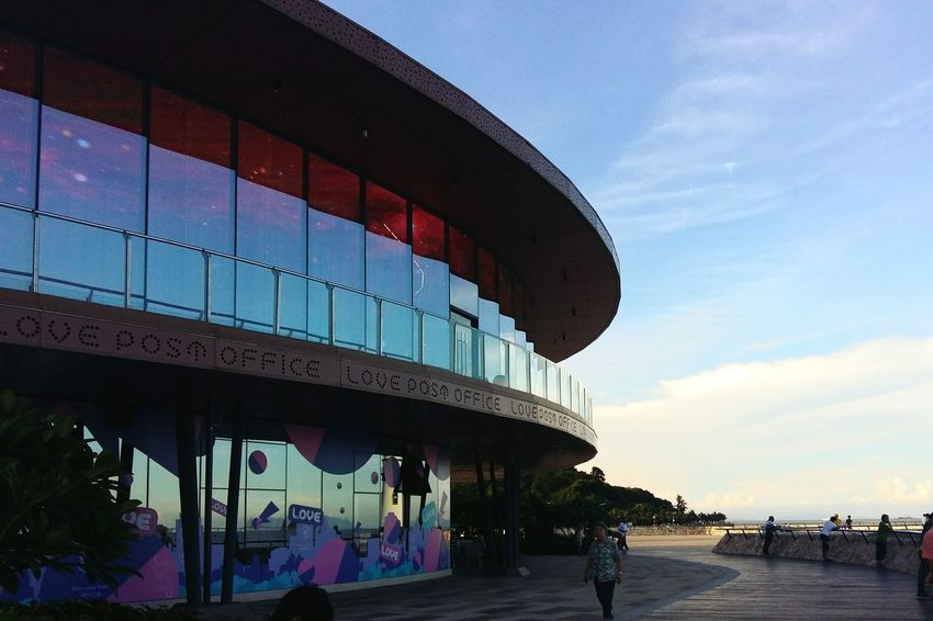 Beach Sky Cloud - Sky Architecture Travel Destinations Sunset Water People Outdoors Day - Zhuhai, China Zhuhai Lovers' Road Love Post Office