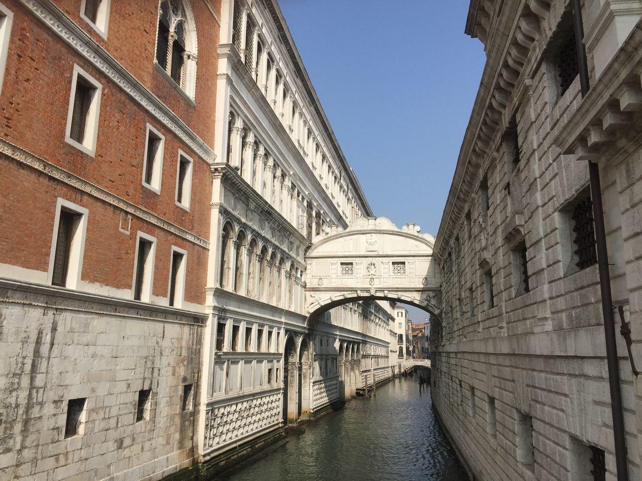 'Street' of Venice. (3) Italian Photos Venice Built Structure Building Exterior Architecture Canal Bridge - Man Made Structure Clear Sky City Life Footbridge
