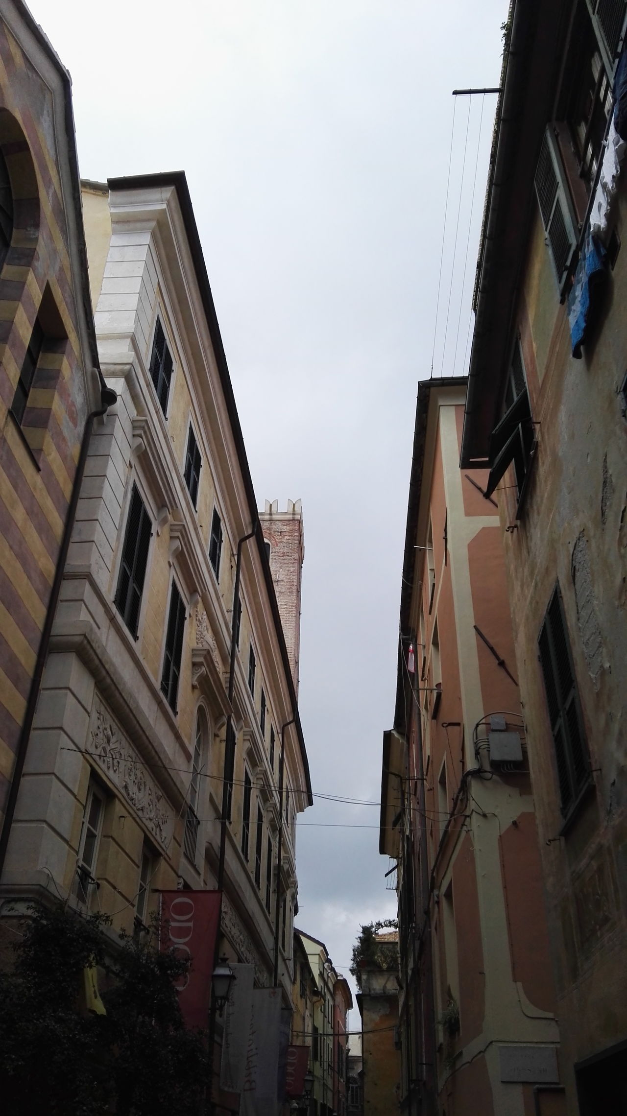 Architecture Building Building Exterior Built Structure City City Life Clear Sky Day Flower Rivier House Liguria Low Angle View No People Old Town Outdoors Residential Building Residential District Residential Structure Sky Street Town Window