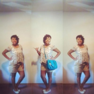 Me before my sister graduation. !