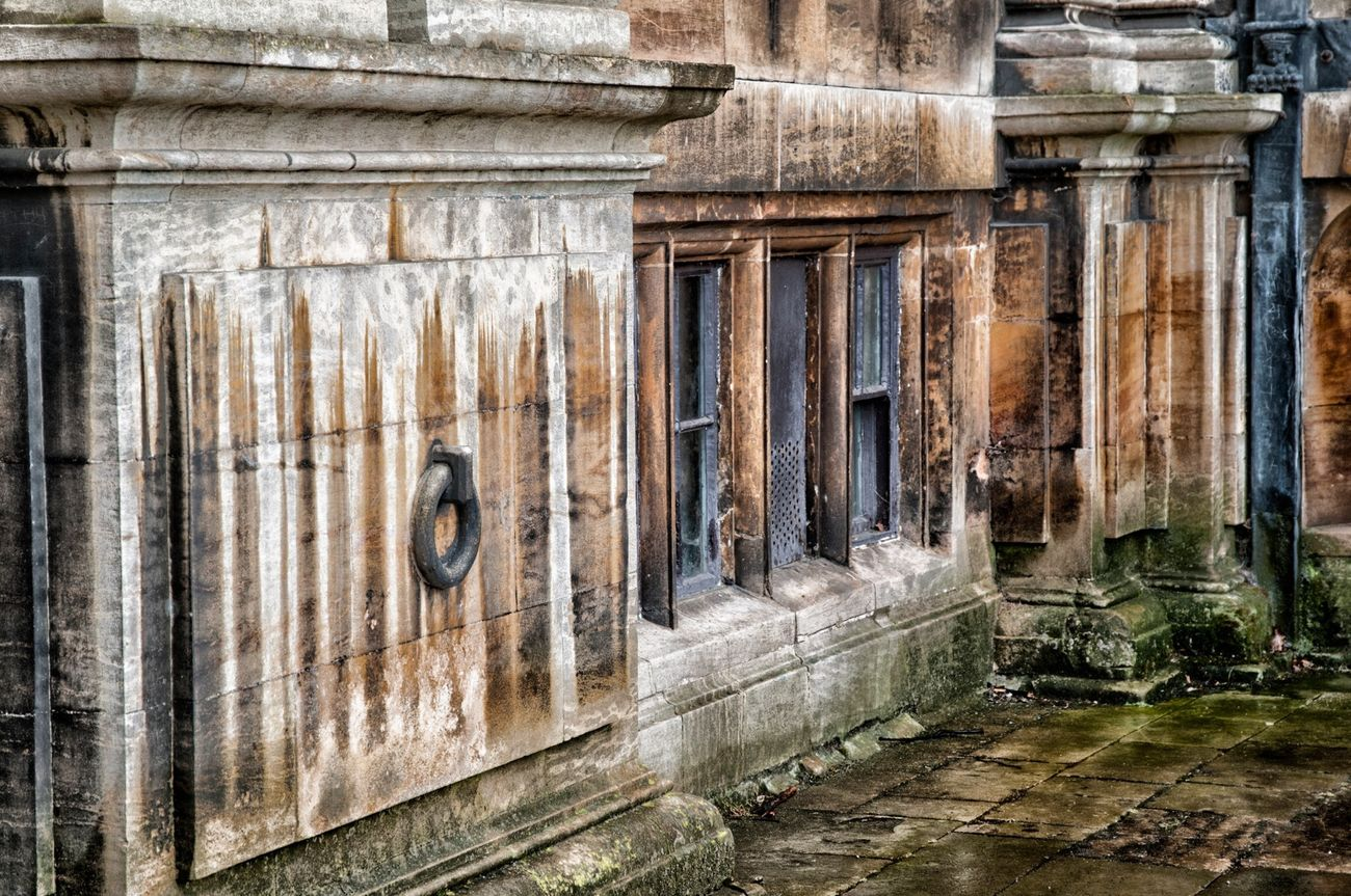 Weathered over time at Wollaton Hall