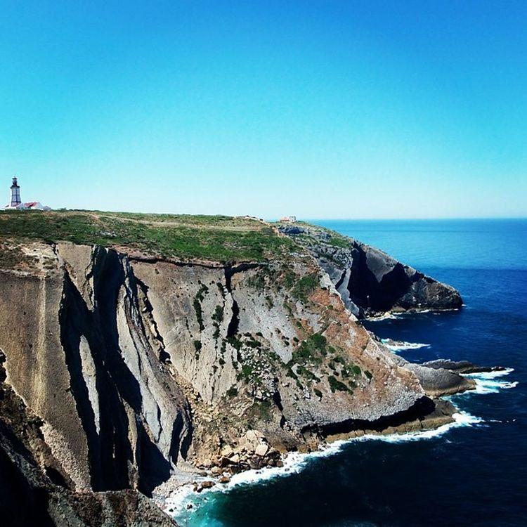 The end of the land! Landscape Caboespichel Espichel Cape  igers igers_portugal instamood portugaldenorteasul