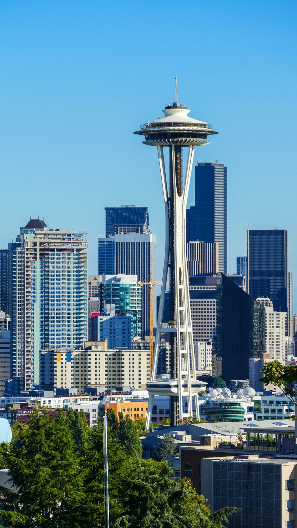Beautiful stock photos of seattle, skyscraper, architecture, tall - high, city