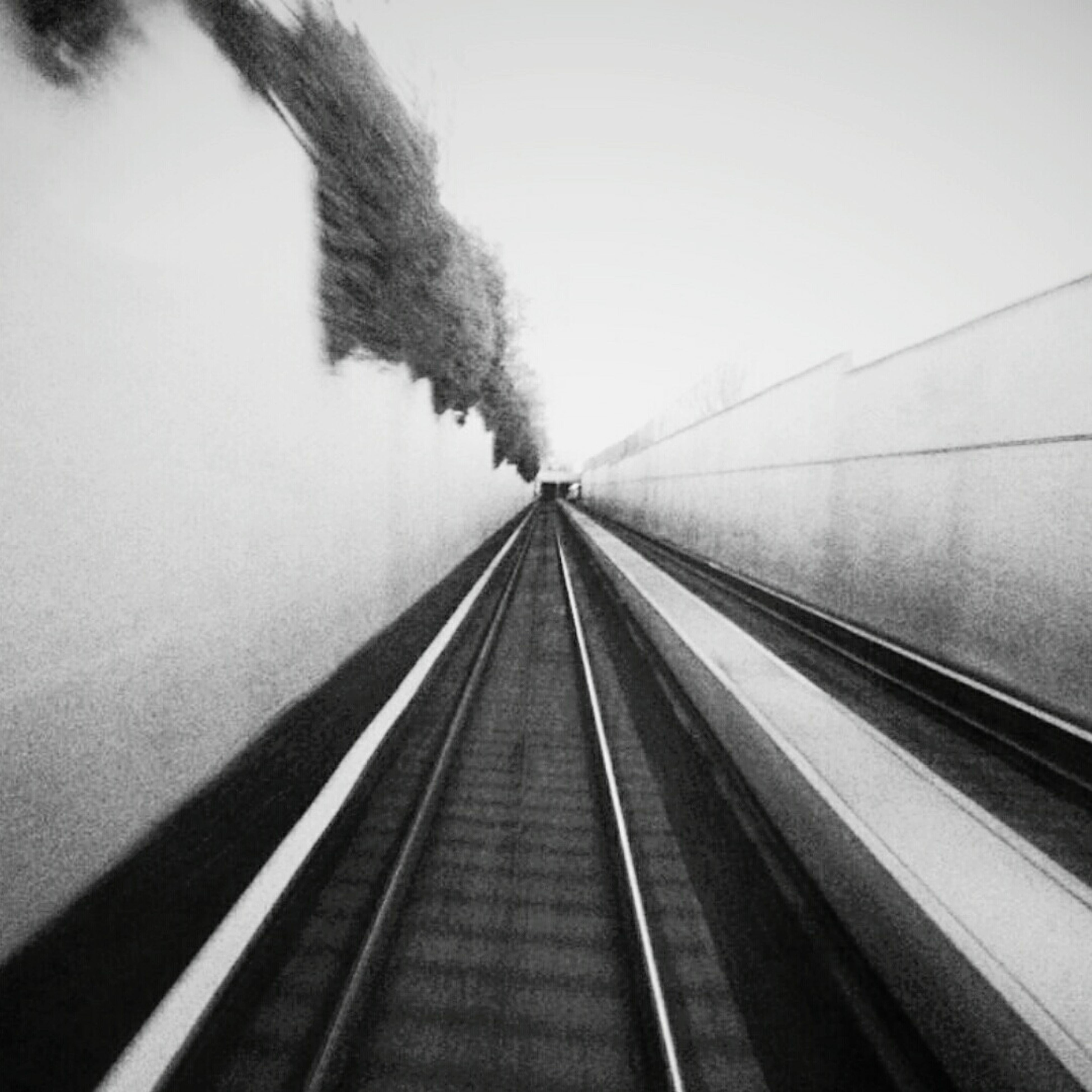 the way forward, diminishing perspective, railroad track, transportation, vanishing point, rail transportation, clear sky, railway track, connection, indoors, public transportation, built structure, long, straight, architecture, tunnel, railroad station, railroad station platform, no people, day