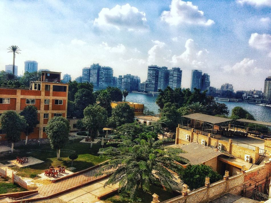 Nature Sky Roof No People Tree City High Angle View Nile River Cairo Egypt Thisiscairo Thisisegypt