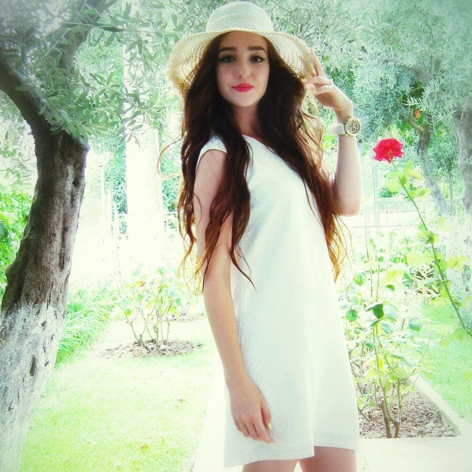 In A White Dress Lovely Weather Freedom LikeLikeLike
