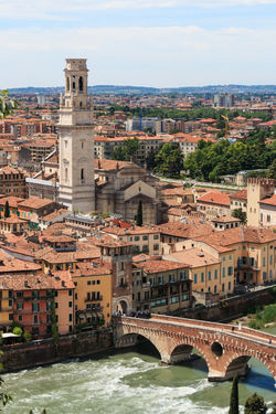 Verona cathedral and ancient Stone Bridge Arch Bridge Architecture Arena Bridge - Man Made Structure Building Exterior Built Structure City City City Life Cityscape Coluseum Connection House Italy Residential Building Residential District Residential Structure River Romeo And Juliet Sky Tower Town Verona Water Waterfront