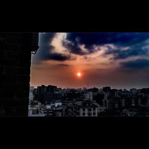 Eveningsun Eveningsky Evening Sunset Clouds Sky Nature Beautiofnature Photography BeautifulBANGLADESH Bangladesh Dhaka City MyClick Own_zone ...
