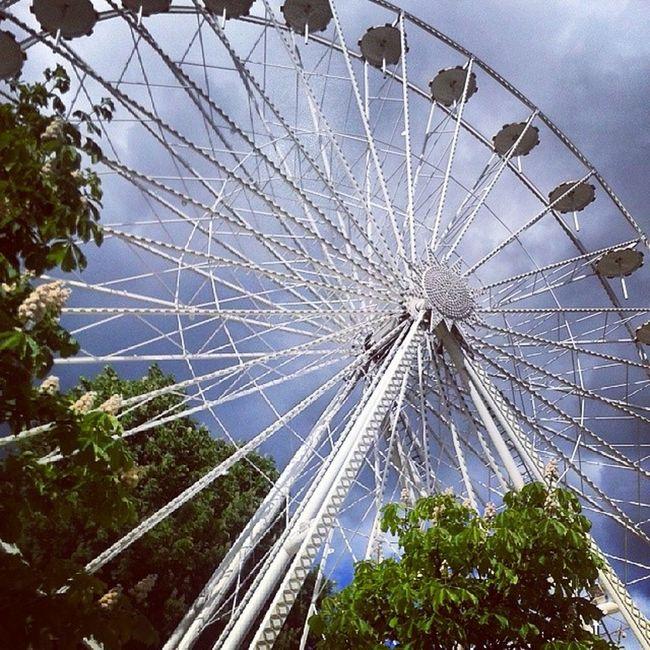 ... Riesenrad Stadtfest Wochenende Uelzen cityregenwolkensonne