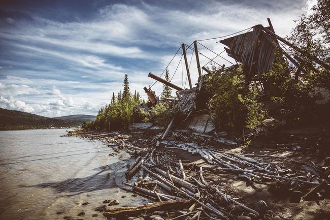 Canada Cloud - Sky Dawson Dawson City  Day Nature No People Outdoors Shipwreck Sky Tree Yukon
