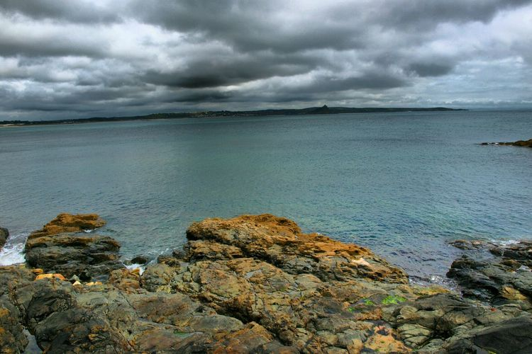 The view to St Michaels Mount from Penzance  Cornwall Sea Clouds And Sky Rocks Colourful Rocks Moody Sky Cornish Coast Island Castle