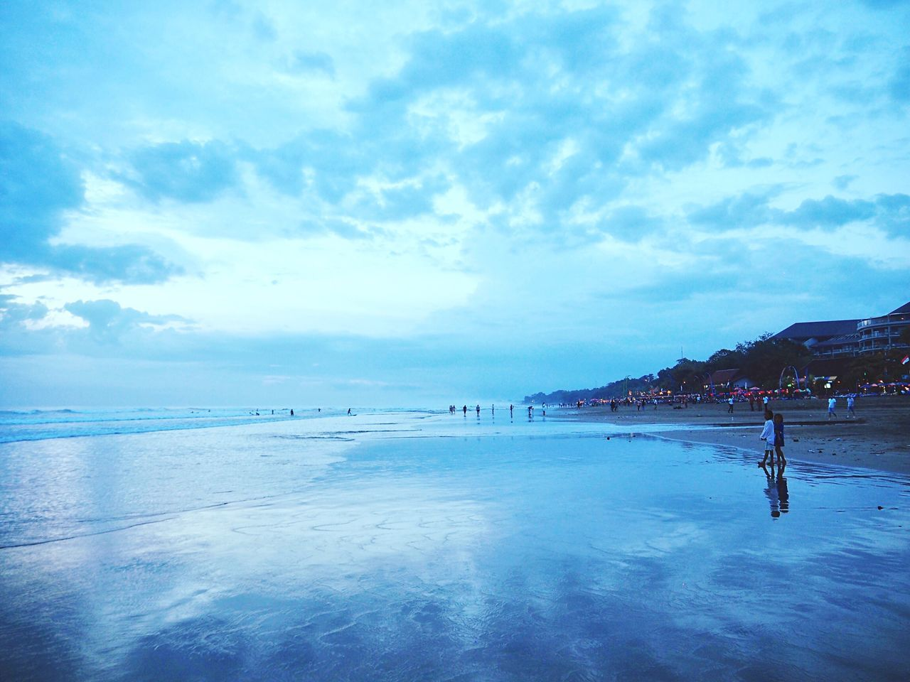Travel Travel Destinations Seascape Outdoors Wanderlust Enjoying Life Getting Inspired Horizon Over Water Cloud - Sky Sky And Clouds Nature Beauty In Nature Landscape Beach Reflection People Watching From My Point Of View Ocean View Relaxing Enjoying The View Skyporn EyeEmBestPics EyeEm Best Shots in Denpasar , Bali